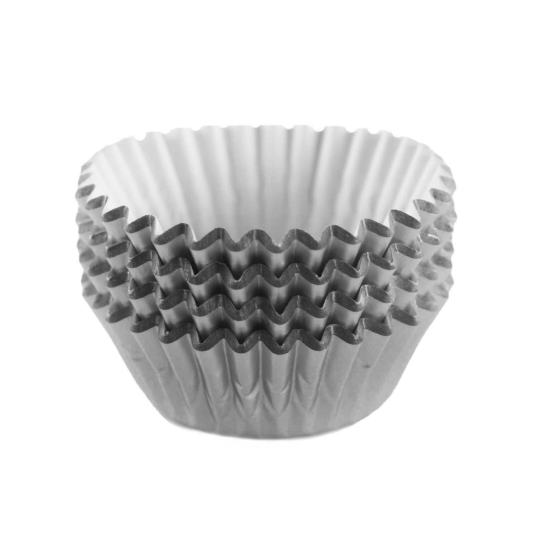 Grey Foil Treat Cups