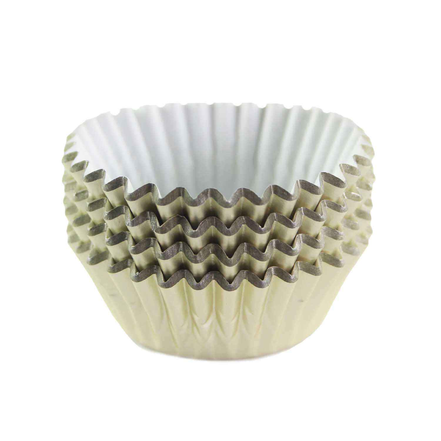 Ivory Foil Treat Cups