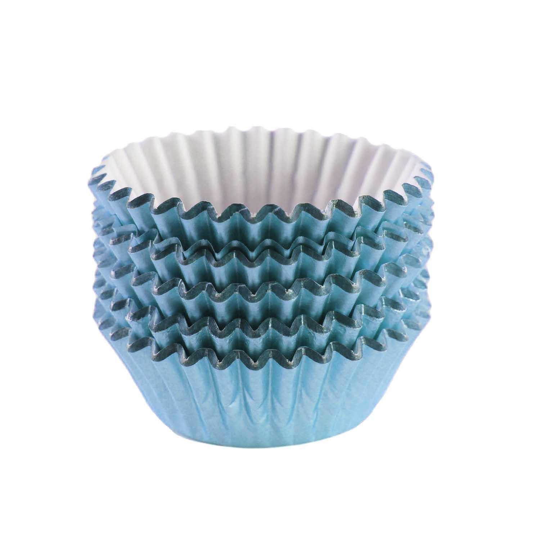 Light Blue Foil Treat Cups
