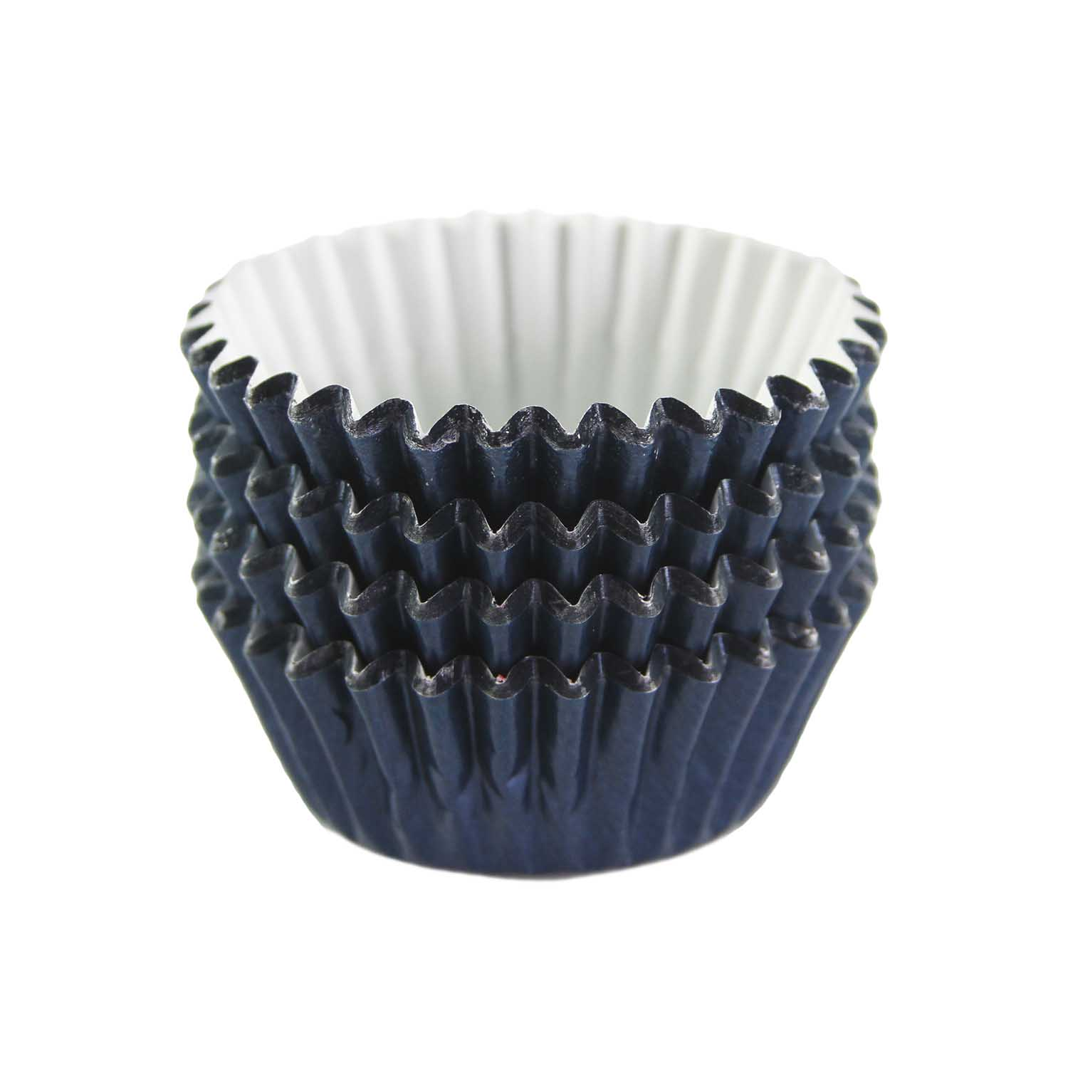 Navy Blue Foil Treat Cups