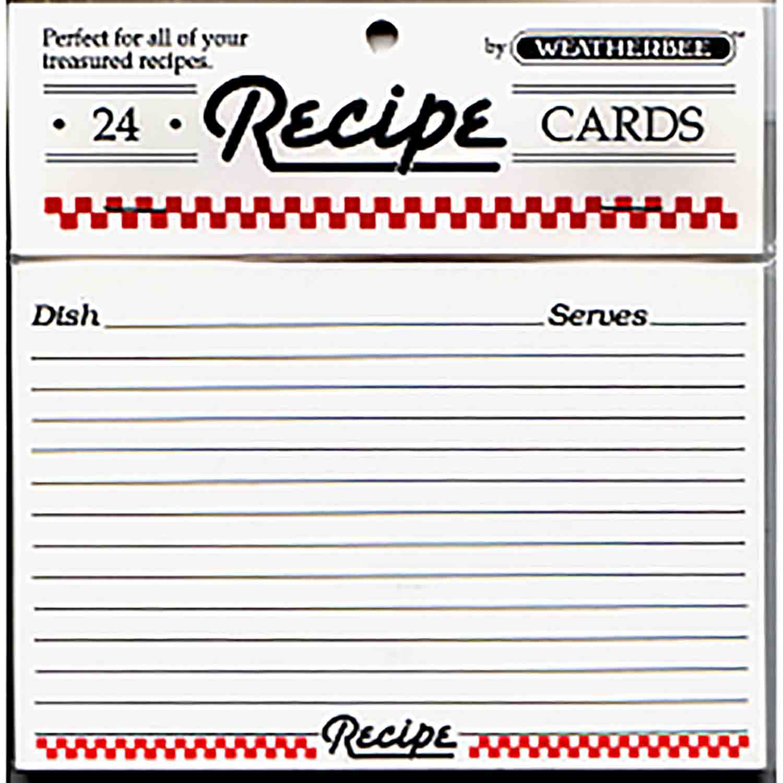 "Recipe Cards-3 x 5"""