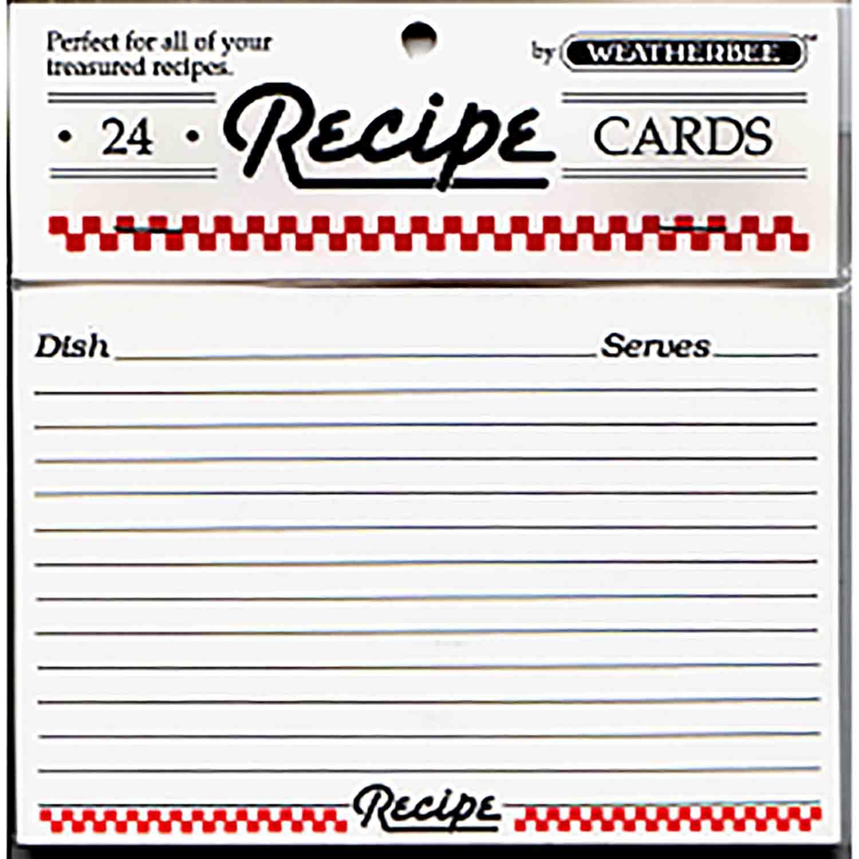 "Recipe Cards-4 x 6"""