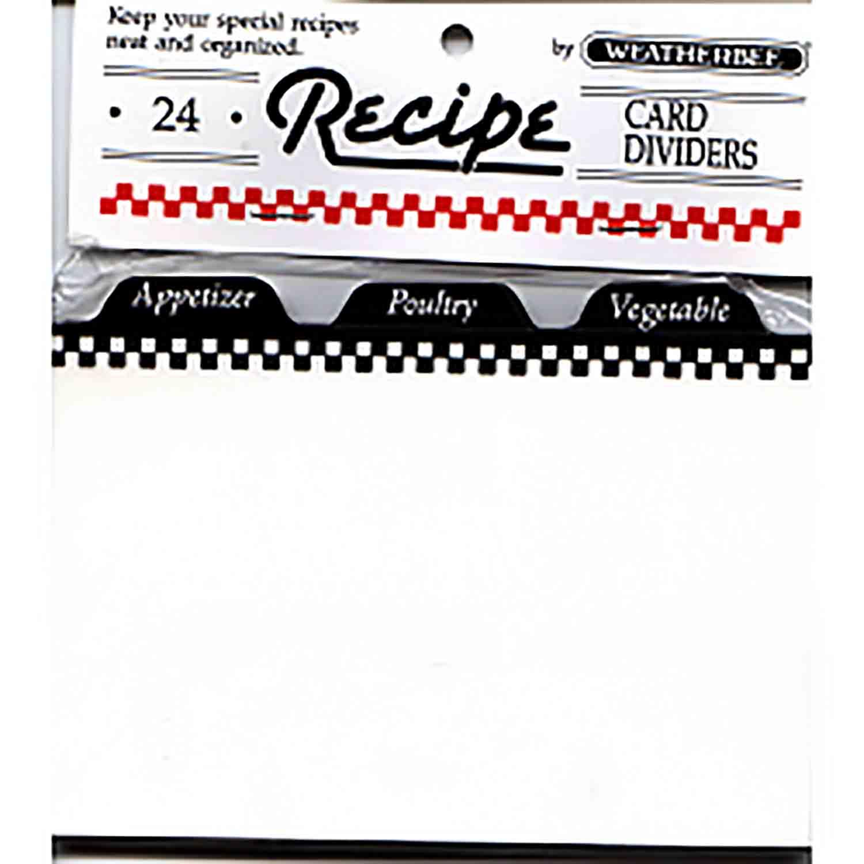 "Recipe Card Divider-3 x 5"""
