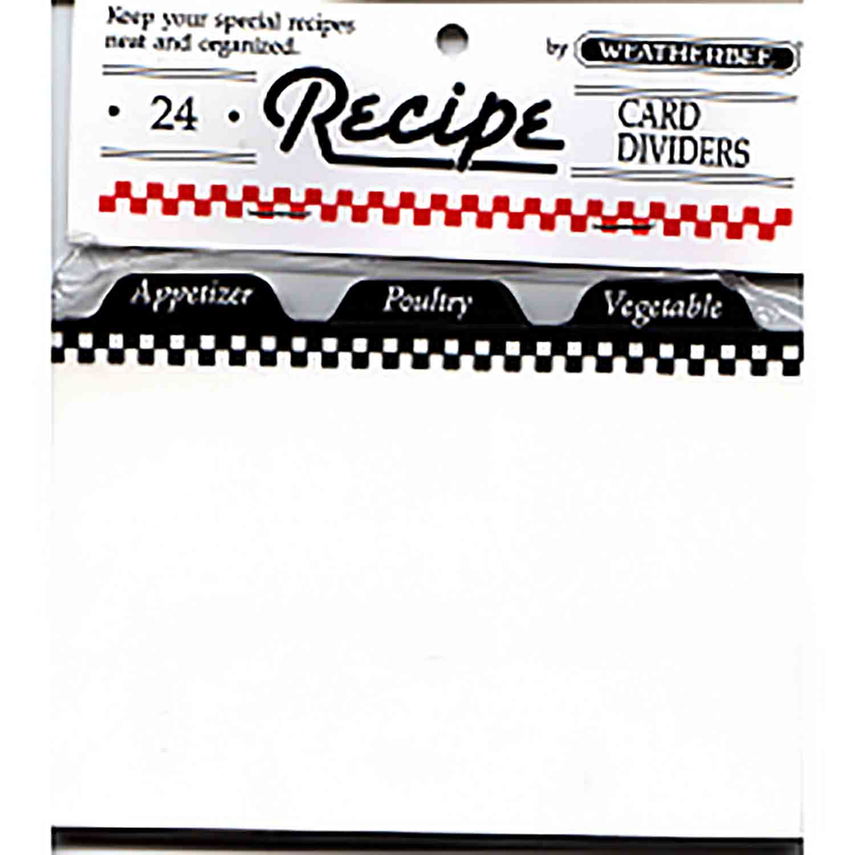 "Recipe Card Divider-4 x 6"""