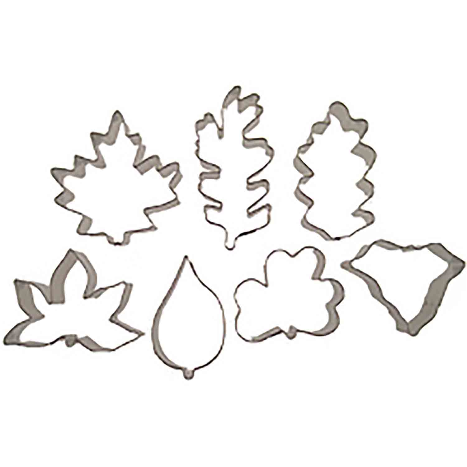Cookie Cutter Set - Assorted Leaves