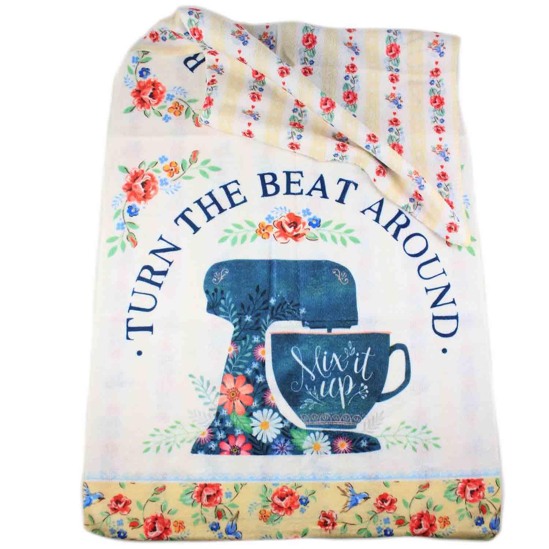 Turn The Beat Around Tea Towel