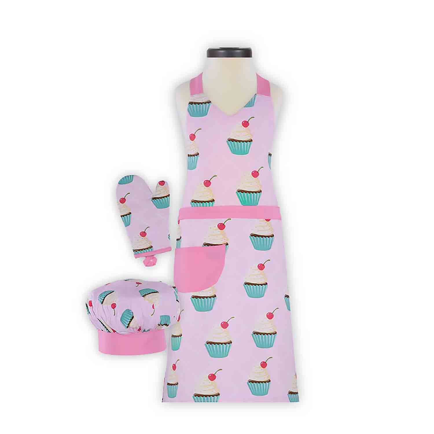 Cupcake Kid's Apron Set