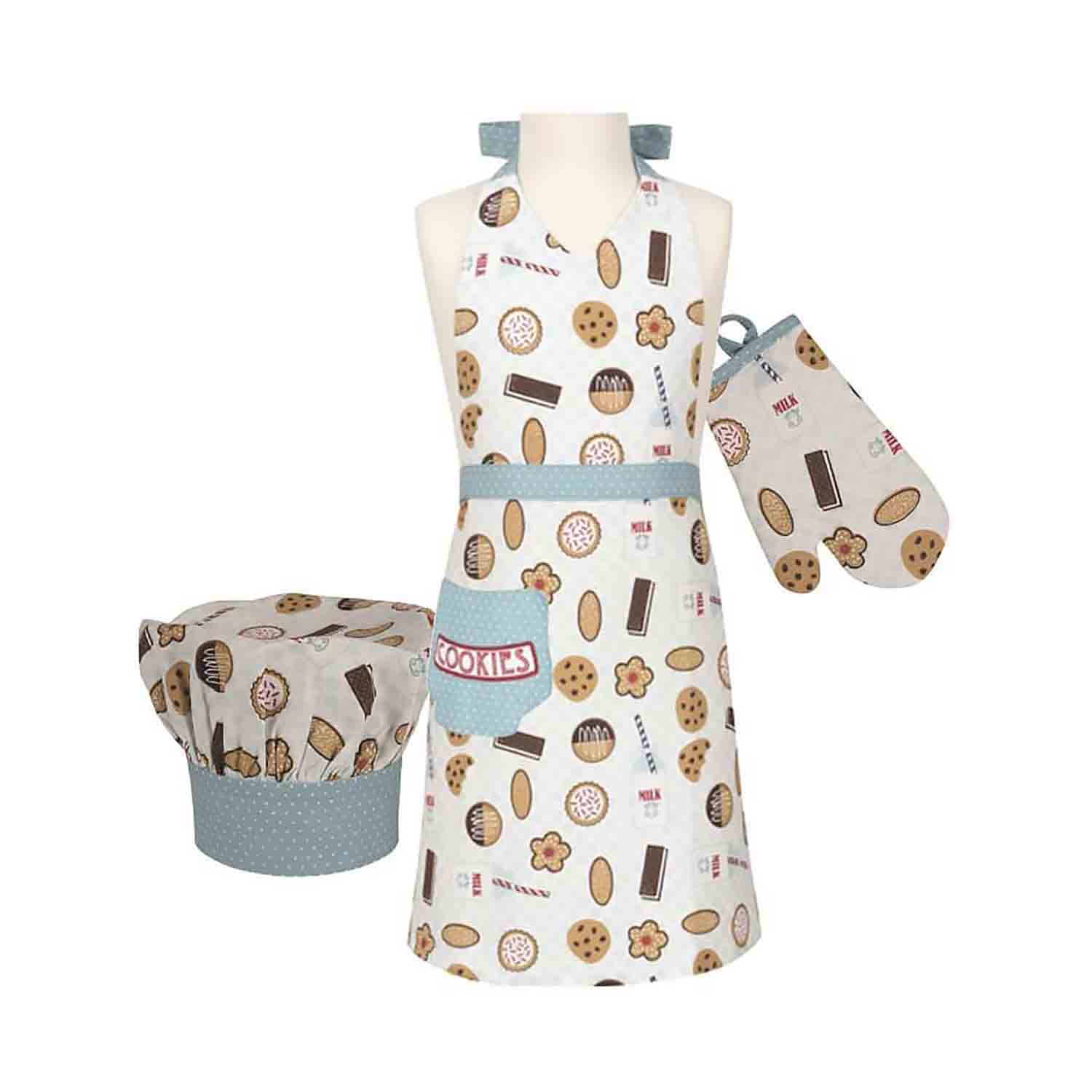 Milk & Cookies Kid's Apron Set