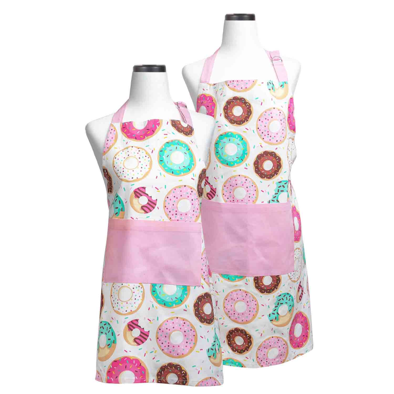 Donut Adult and Child Apron Set
