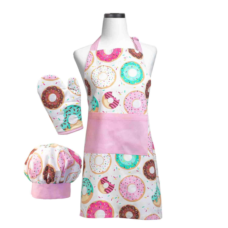 Donut Shoppe Kid Apron Set