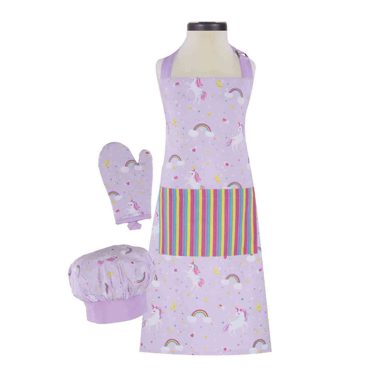 Rainbows & Unicorns Kid's Apron Set
