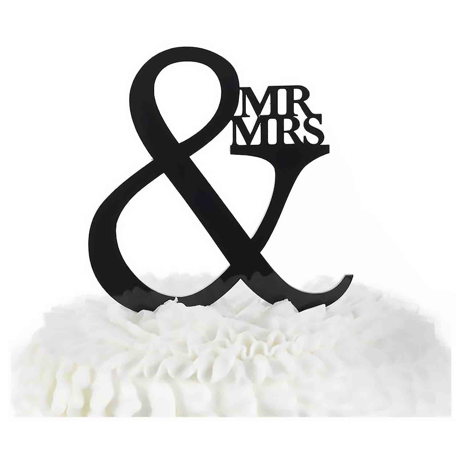 Mr. & Mrs. Wedding Cake Pick