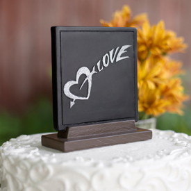 Love Chalk Wedding Cake Topper