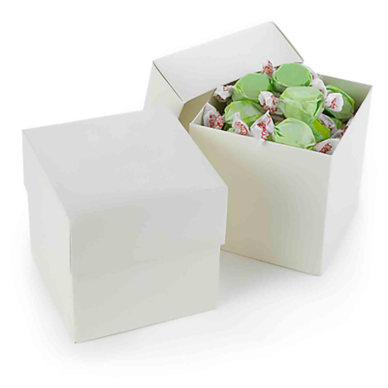 Ivory Shimmer Cupcake Favor Box