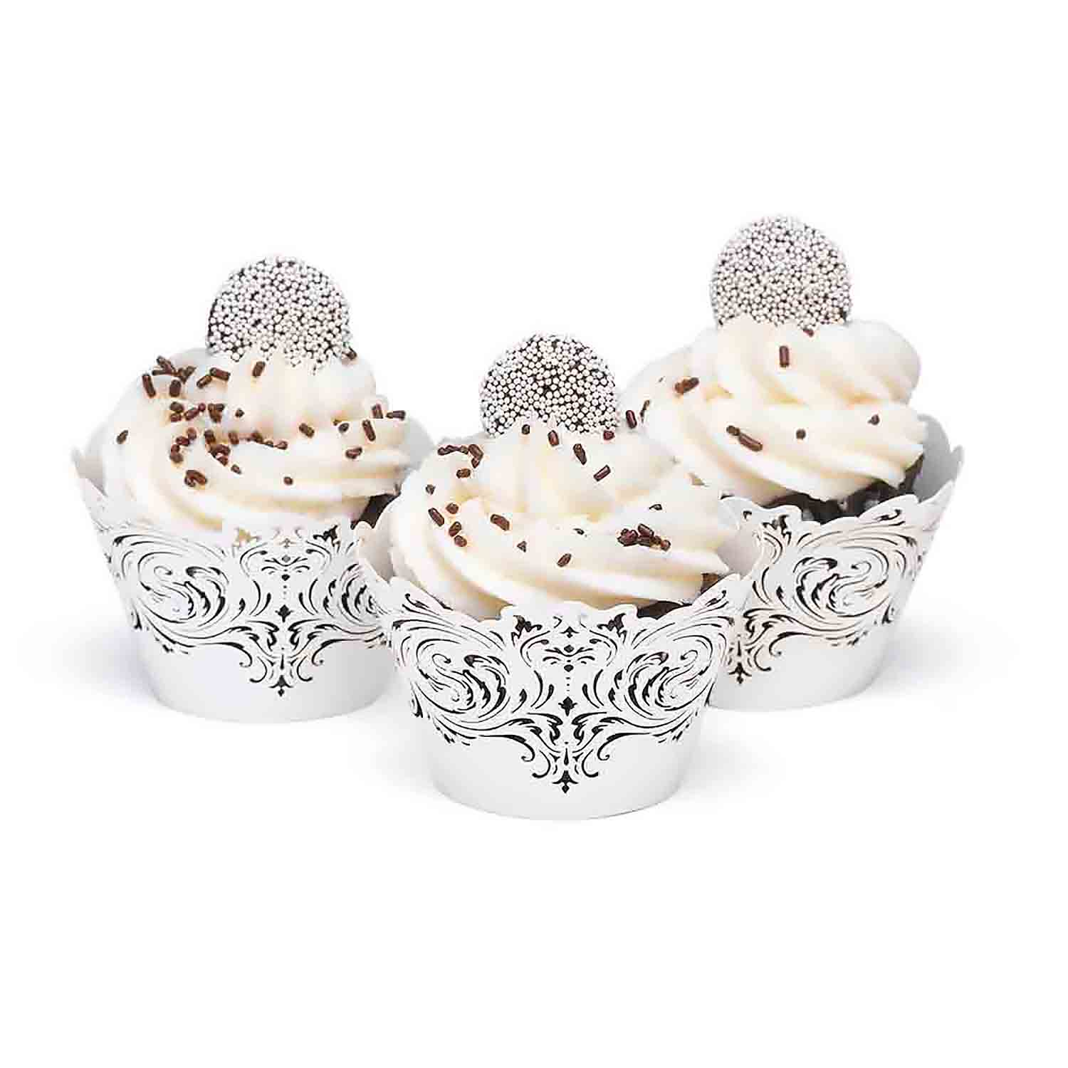 Damask and Filigree Cupcake Wrap