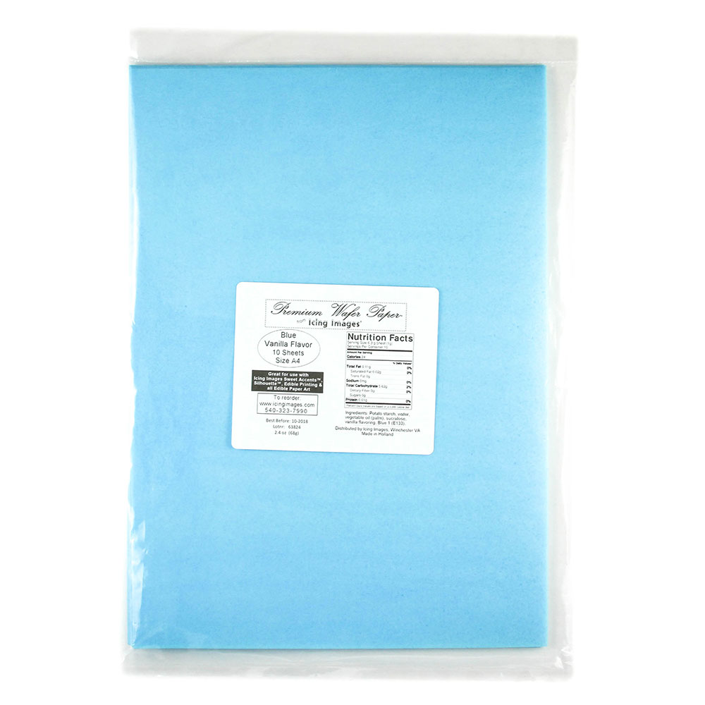 Blue Premium Edible Wafer Paper