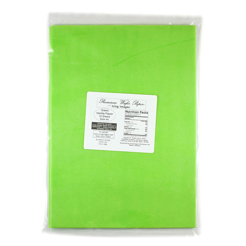 Green Premium Edible Wafer Paper