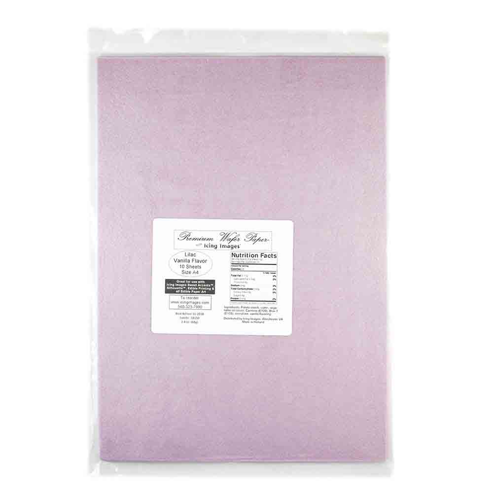 Lilac Premium Edible Wafer Paper