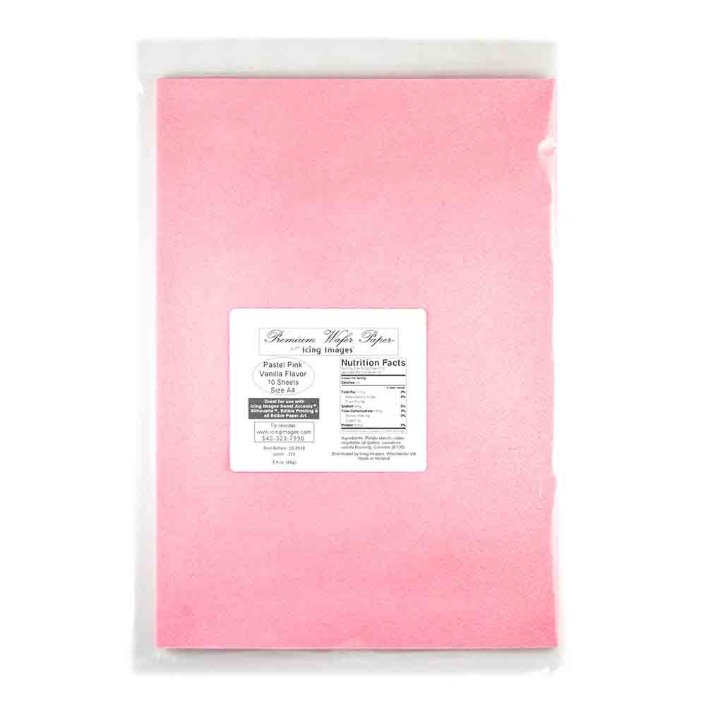 Pink Premium Edible Wafer Paper