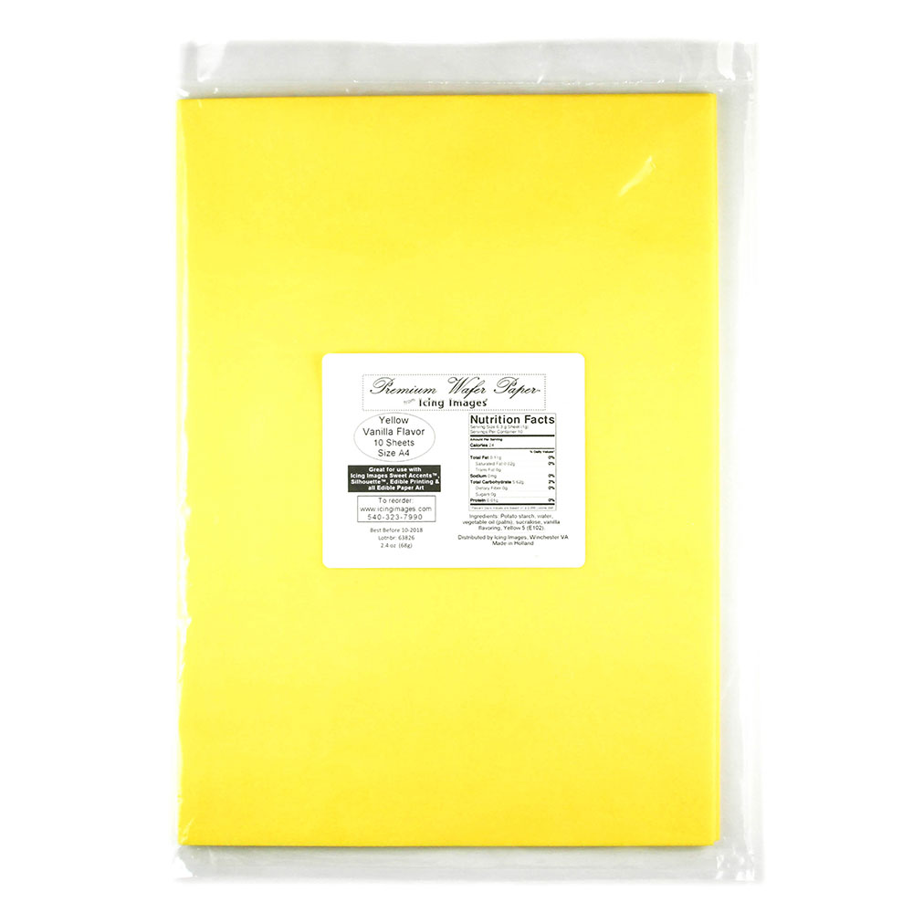 Yellow Premium Edible Wafer Paper