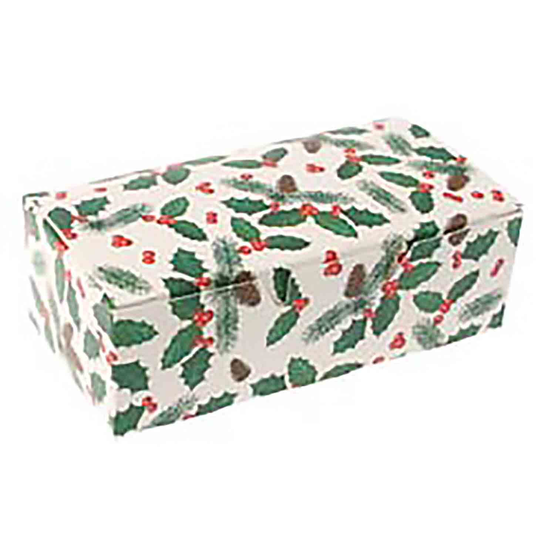 1 lb. Pinecone Holly Candy Box