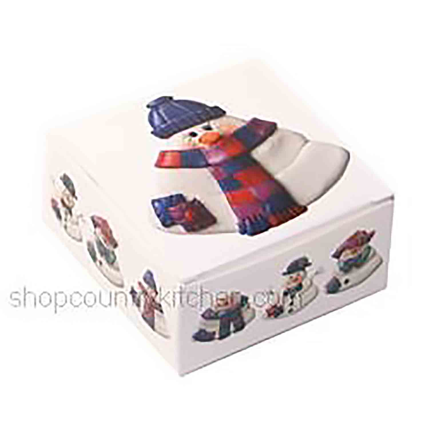 4 pc. Snowman Candy Box