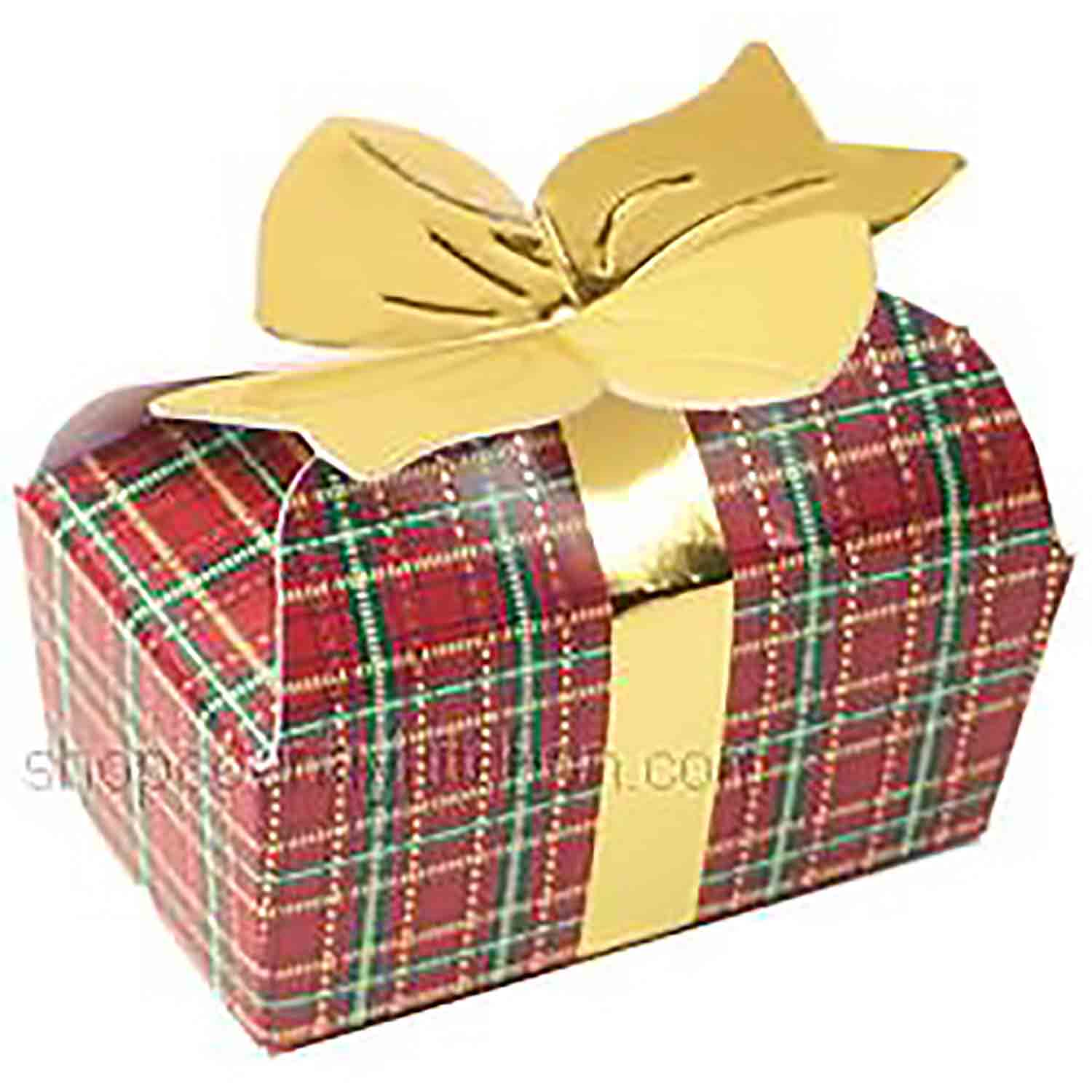 2 pc. Plaid Bow Candy Box