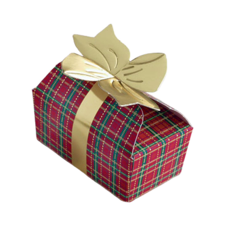2 pc. Plaid Bow Candy Box