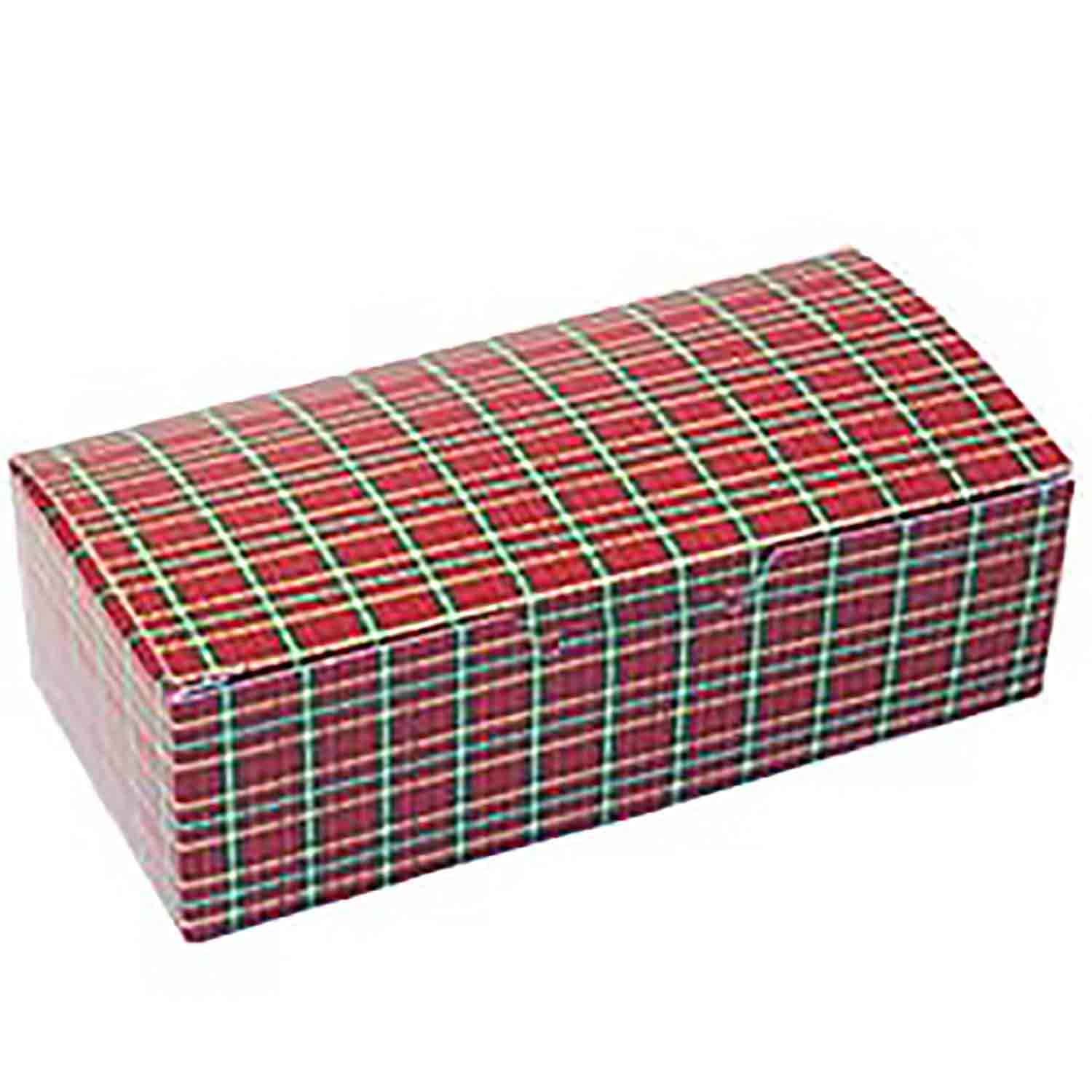 1/4 lb. Plaid Candy Box