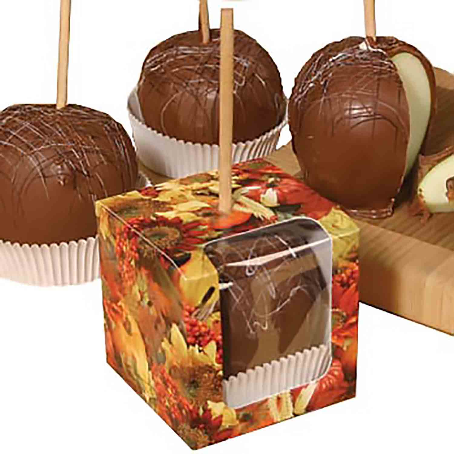 Fall Candy Apple Box with Window