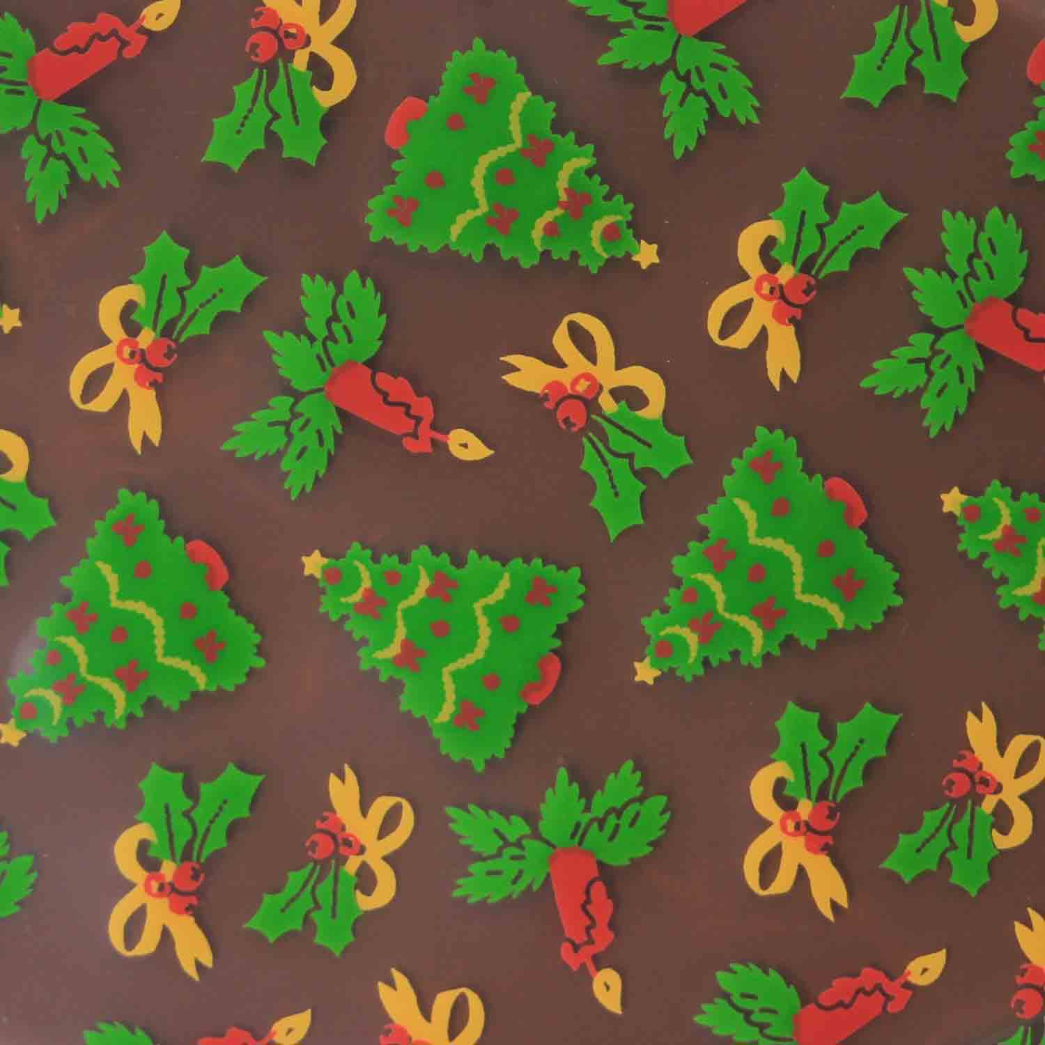 Chocolate Transfer Sheet- Christmas Trees