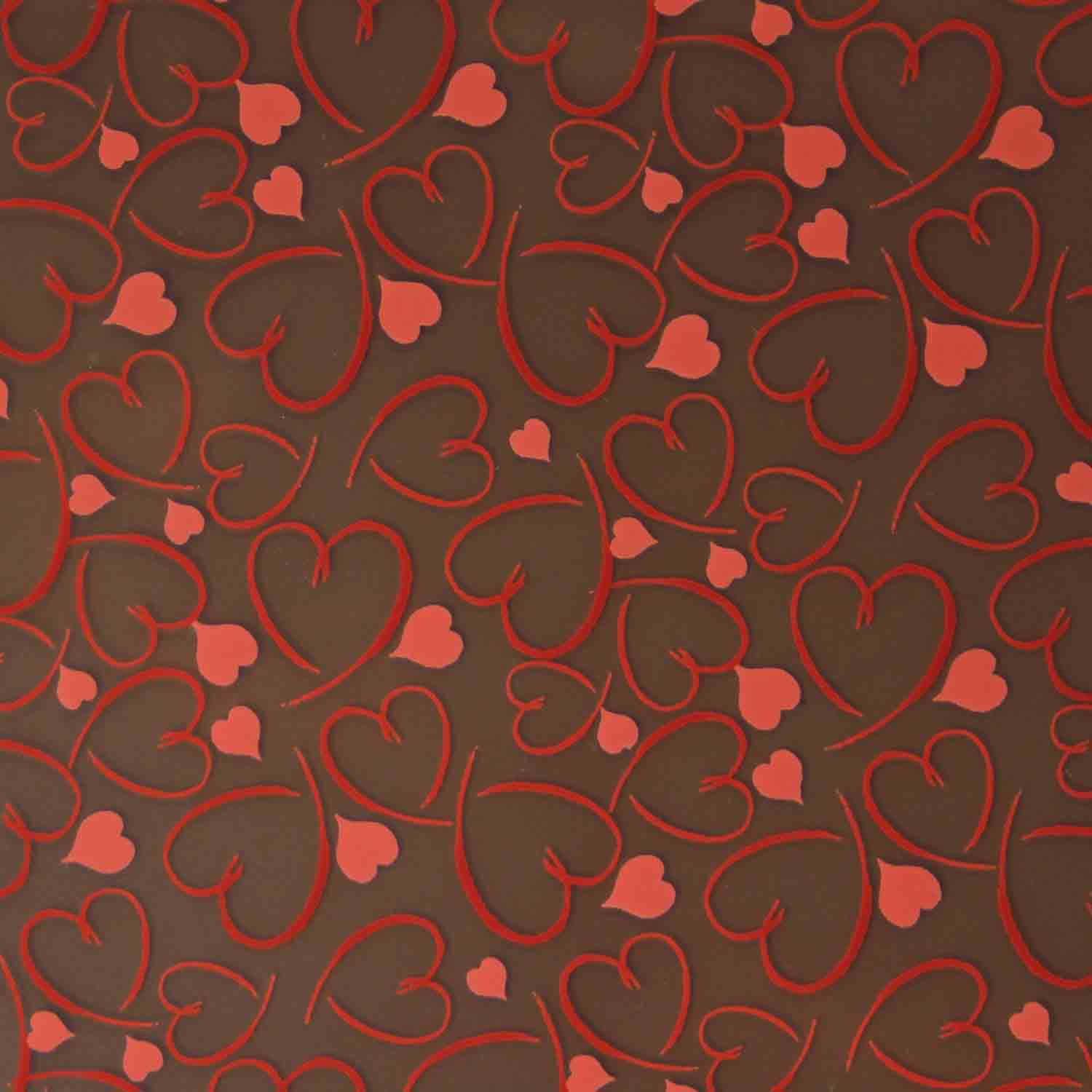 Chocolate Transfer Sheet-Whimsy Hearts