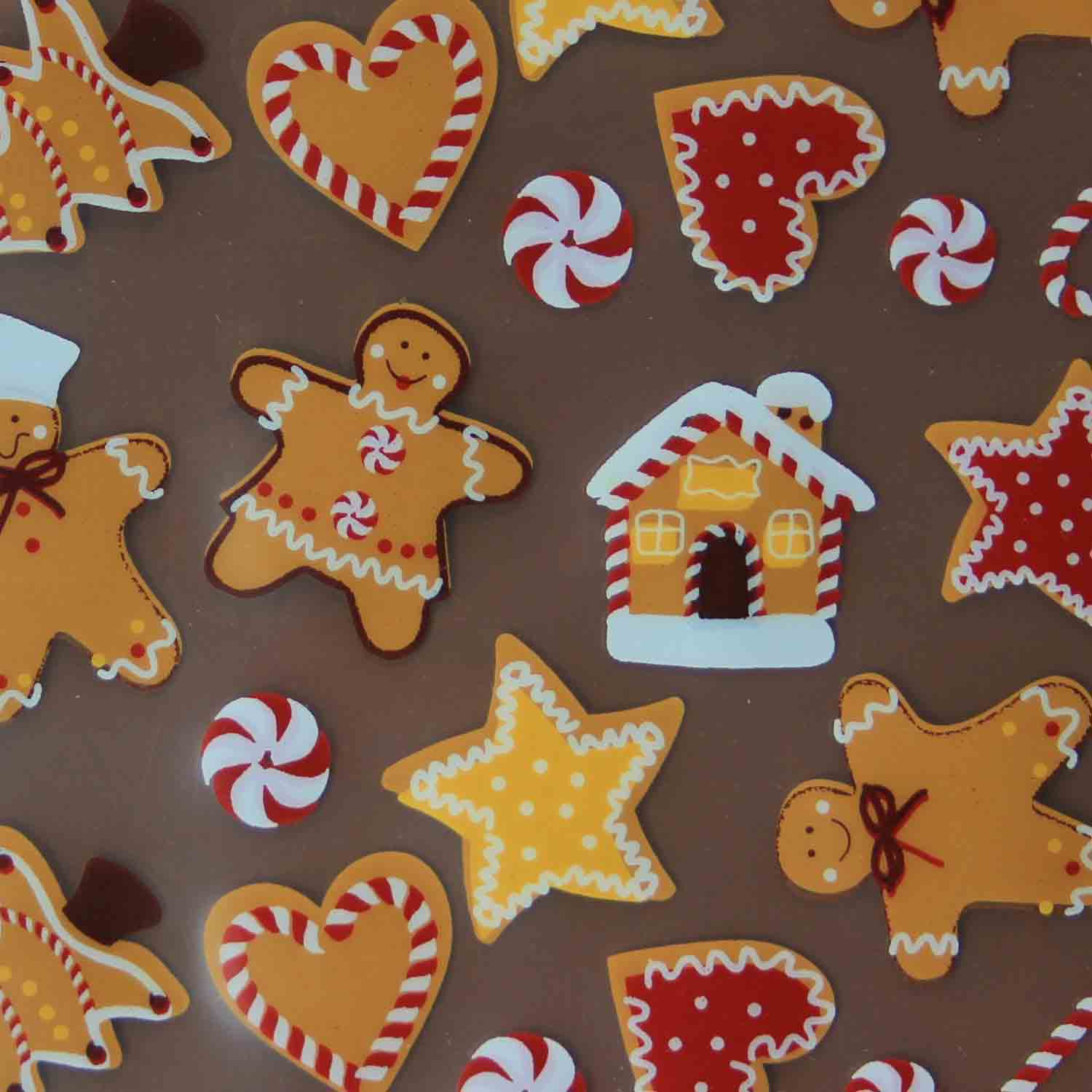 Chocolate Transfer Sheet-Gingerbread