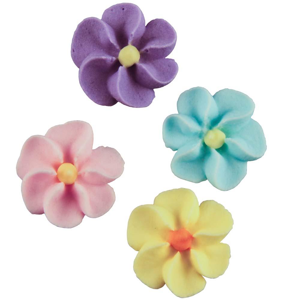 Royal Icing Flowers - Tiny Assortment