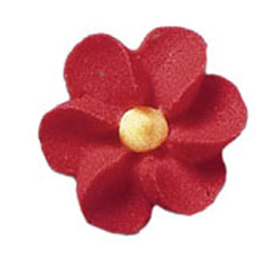 Royal Icing Flowers - Tiny Red