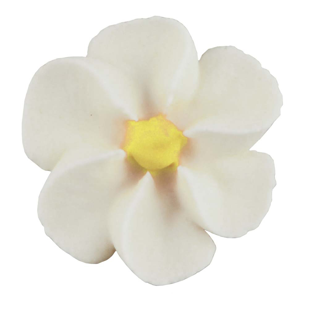 Royal Icing Flowers - Small White