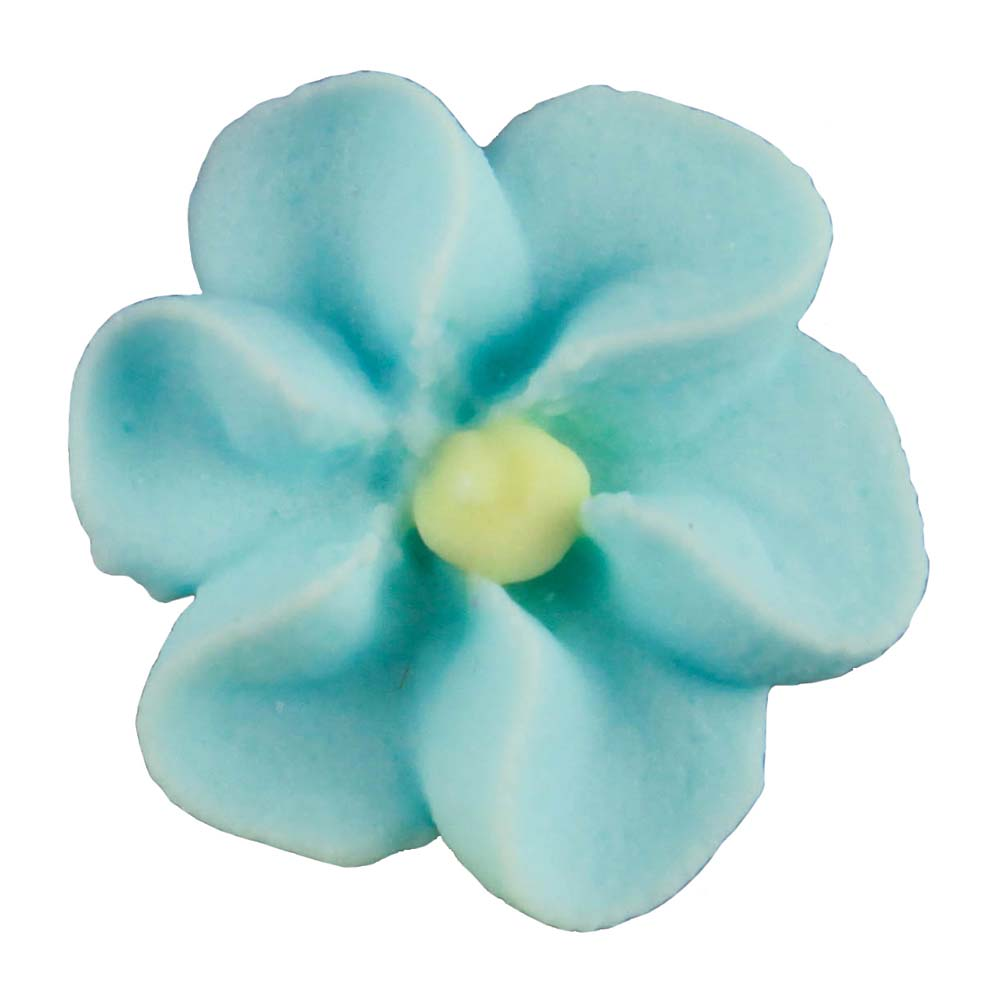 Royal Icing Flowers - Small Blue