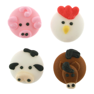Icing Layons - Assorted Farm Animals