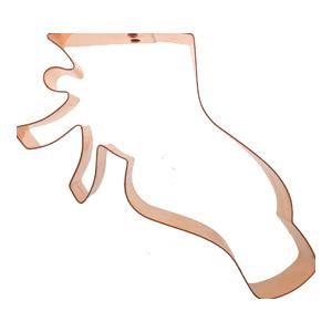 Copper Cookie Cutter - Ballet Slipper