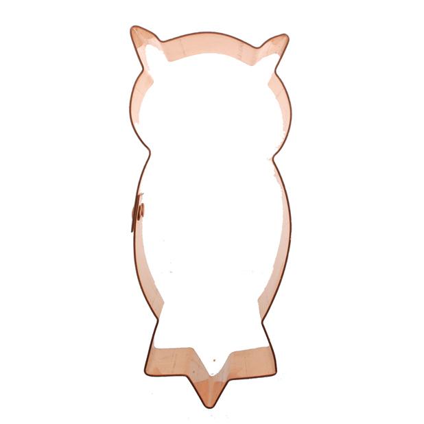Copper Cookie Cutter - Owl
