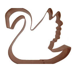 Copper Cookie Cutter-Swan