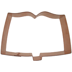 Copper Cookie Cutter-Open Book/Bible