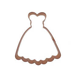 Copper Cookie Cutter-Prom Dress