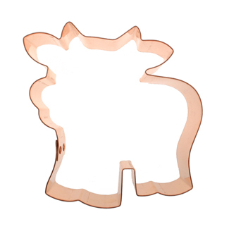 Fun Cow Copper Cookie Cutter
