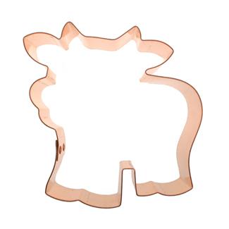 Fun Cow Copper Cookie Cutter
