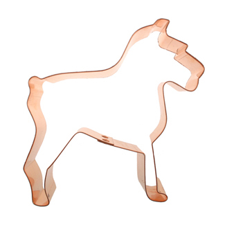 Schnauzer Copper Cookie Cutter