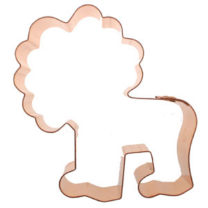 Copper Cookie Cutter - Fun Lion