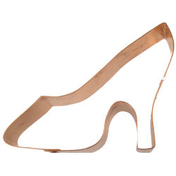 Copper Cookie Cutter-High Heel Shoe