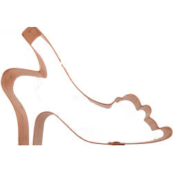 Copper Cookie Cutter-Sling Back Shoe