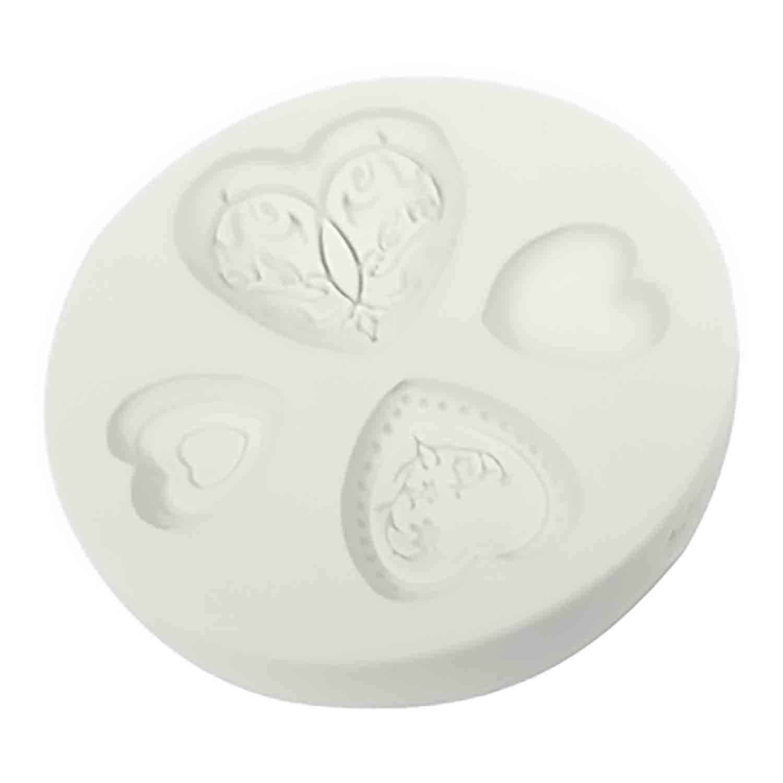 Elegant Hearts Silicone Mold